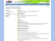 Activities that Teach Values Lesson Plan