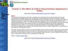 Activity 1: The Effect of Cold on Characteristics Important to Fishes Lesson Plan