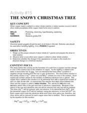 Activity #15 The Snowy Christmas Tree Lesson Plan