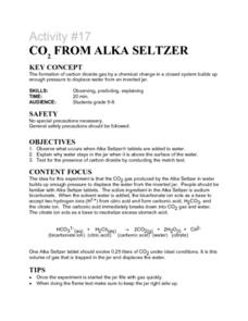 Activity #17 Co2 From Alka Seltzer Lesson Plan