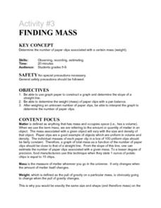 Activity #3 Finding Mass Lesson Plan