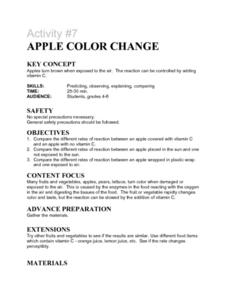 Activity #7 Apple Color Change Lesson Plan