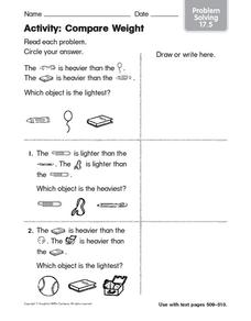 Activity: Compare Weight Worksheet