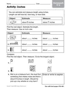 Activity: Inches Worksheet