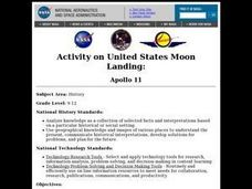 Activity on United States Moon Landing: Apollo 11 Lesson Plan