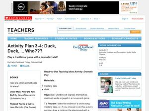 Activity Plan 3-4: Duck, Duck, ... Who??? Lesson Plan