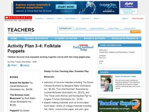 Activity Plan 3-4: Folktale Puppets Lesson Plan