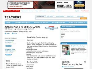 Activity Plan 3-4: Still Life Artists Lesson Plan