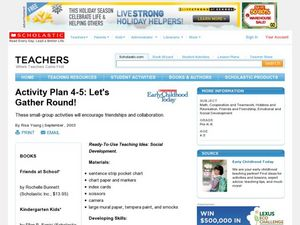 Activity Plan 4-5: Let's Gather Round! Lesson Plan