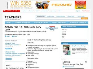 Activity Plan 4-5: Make a Memory Quilt Lesson Plan