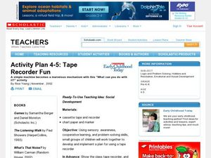 Activity Plan 4-5: Tape Recorder Fun Lesson Plan