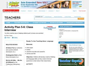 Activity Plan 5-6: Class Interview Lesson Plan
