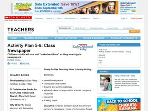 Activity Plan 5-6: Class Newspaper Lesson Plan