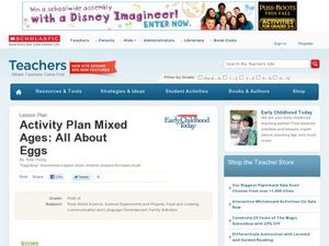 Activity Plan Mixed Ages: All About Eggs Lesson Plan