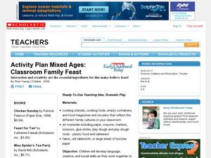 Activity Plan Mixed Ages: Classroom Family Feast Lesson Plan