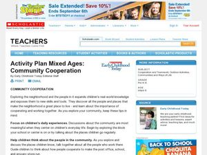 Activity Plan Mixed Ages: Community Cooperation Lesson Plan