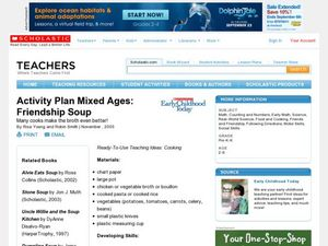 Activity Plan Mixed Ages: Friendship Soup Lesson Plan