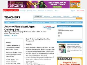 Activity Plan Mixed Ages: Quilting Bee Lesson Plan