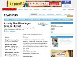 Activity Plan Mixed Ages: Time to Rhyme! Lesson Plan
