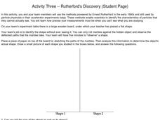 Activity Three -- Rutherford's Discovery (Student Page )  A Lab Experiment in Physics Worksheet