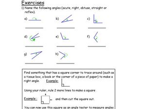 Acute and Right Angles Lesson Plan