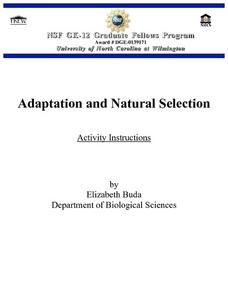 Adaptation and Natural Selection Lesson Plan