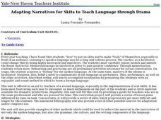 Adapting Narratives for Skits to Teach Language Through Drama Lesson Plan