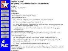 Adapting to Animal Behavior for Survival Lesson Plan