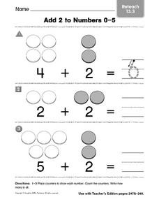 Add 2 to Numbers 0-5 Worksheet