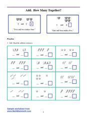 Add. How Many Together? Lesson Plan