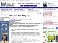 Add It Up Alligators Lesson Plan