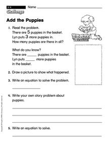 Add the Puppies Worksheet