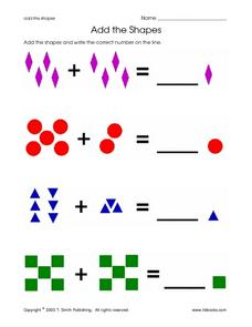 Add The Shapes Worksheet