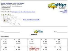 Add Two-Digit Numbers Worksheet