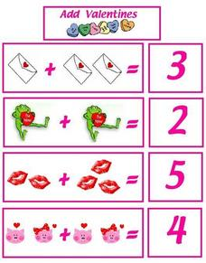 Add Valentines Worksheet