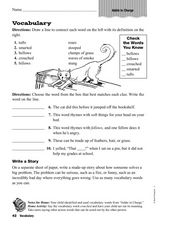 Addie In Charge: Vocabulary Worksheet