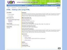 Adding Links using HTML Lesson Plan