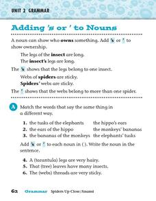 Adding 's or ' to Nouns Worksheet