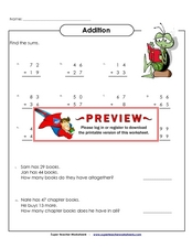 Addition: 2 digit numbers Worksheet