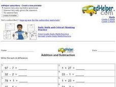 Addition and Subtraction 4 Worksheet
