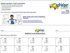 Addition and Subtraction 5 Worksheet