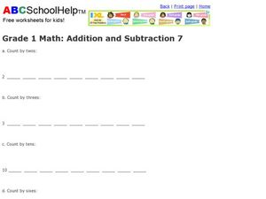 Addition and Subtraction  7 Worksheet