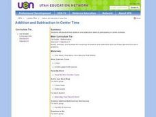 Addition and Subtraction in Center Time Lesson Plan