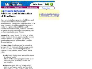Addition and Subtraction of Fractions Lesson Plan