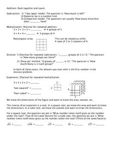 Addition Etc... Worksheet
