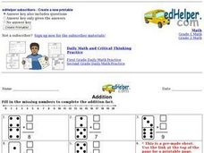 Addition Facts: Dominoes 2 Worksheet