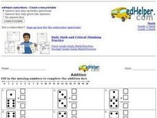 Addition Facts: Dominoes Worksheet