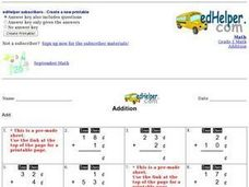 Addition: Monetary Amounts Worksheet