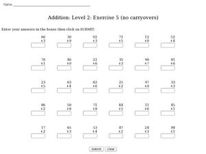 Addition: No Carryovers Worksheet