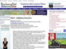 Addition Practice - Activity Lesson Plan